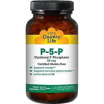 Solgar P-5-P (Piridoxal-5-fosfato) Comprimidos - Envase de 50 ...