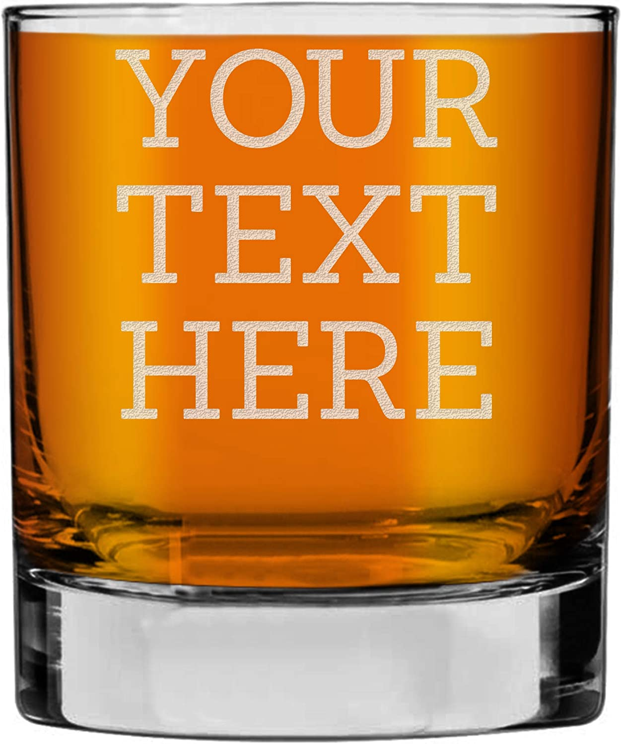 Personalized Etched Custom Message Glass Factory outlet Whiskey Rocks lowest price 10.25oz
