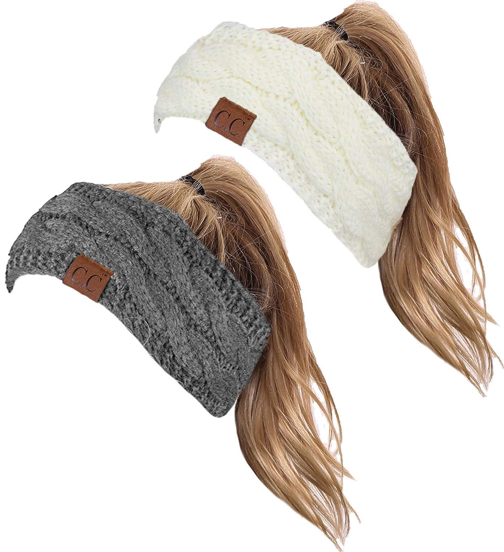 HW-6033-2-20a-2551 Headwrap Bundle - Ivory & Heather Grey (2 Pack)