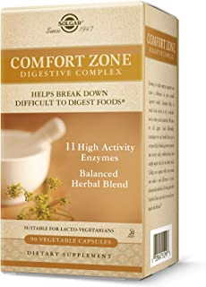 Solgar Comfort Zone Digestive Complex, 90 Vegetable Capsules - Enzymes for Digestion - Support The Body's Natural Digestiv...
