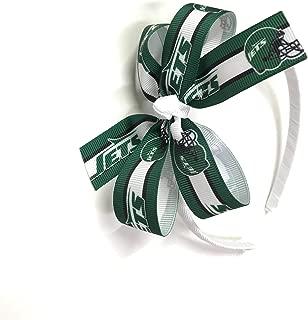 Girls NFL New York Jets Headband Girls New York Jets Football Hair Bow