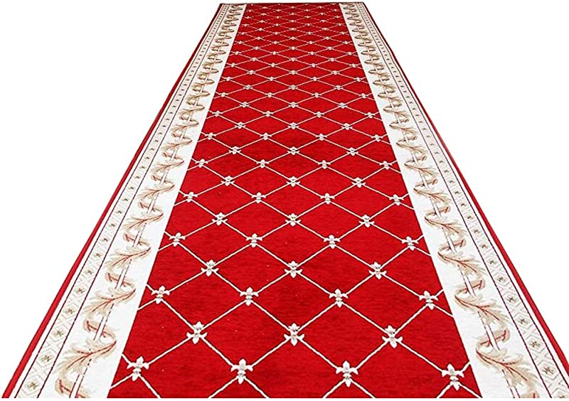 Runway Carpet Runner Shag Carpet Runners For Hallway Chinese Pattern Blended Material Decorative Slip For Anti Slip Mat Door Mat Multiple Styles 3m5m10m Color Brown Size 0 8x10m 2 6x33ft