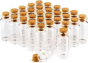 COM-FOUR® 30x kruidenpotenset met kurk, mini-glazen injectieflacon, snoeppotenset, opslag van oliën, kruiden, kruiden of t...