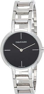 Calvin Klein Women's Black Dial Stainless Steel Band Watch - K8N231-41