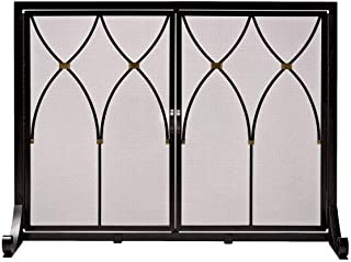Plow & Hearth Large Winchester Fireplace Screen with Doors