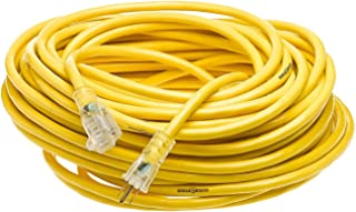 Yellow Jacket 2885 12/3 Heavy-Duty 15-Amp Premium SJTW Contractor Extension Cord with Lighted End, Ideal use With Heavy Du...