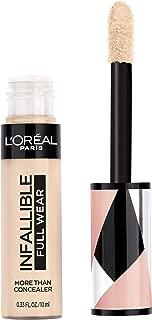 L'Oréal Paris Makeup Infallible Full Wear Concealer, Full Coverage, EXTRA LARGE Applicator, Waterproof, Multi-Use Concealer to Shape, Cover, Contour & Sculpt, Matte Finish, Ivory, 0.33 fl. oz.