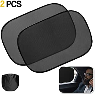 Zone Tech Car Window Shade- 2 Pack- Cling Sunshade for Side Window Universal Fit Breathable Blocking UV- Static Cling Mesh...