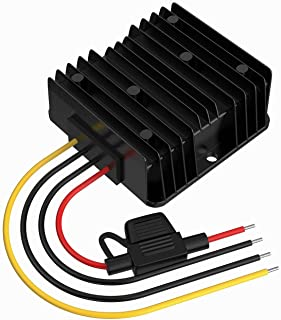 DC Buck Converter 24V to 12V 10A 120W Step Down Transformer with Fuse Waterproof, Voltage Reducer for Golf Cart LED Light ...