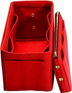 Inserto de monedero personalizable (3 mm de fieltro, bolsa desmontable con cremallera metálica), organizador de bolsas de ...