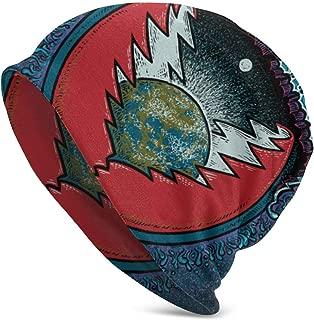 FrancSan Grateful Dead Beanie Skull Cap,Knit Hat Winter Warm Beanie Cap for Men & Women Black