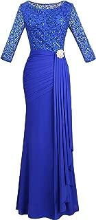 Angel fashions Women's V Neck Sequin Half Sleeves Mermaid Sheath Maxi Wedding Dress