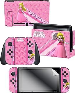 "Controller Gear Nintendo Switch Skin & Screen Protector Set, Officially Licensed by Nintendo - Super Mario ""Princess Peach..."
