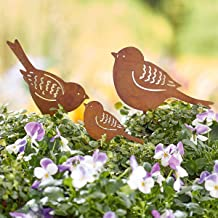 Gartenstecker Windspiel  Gartendeko Metall Pflanzenstecker  Vogelpaar  Vögel 521