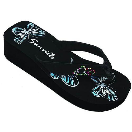 921756299280 L.A. Beauty Womens FLIP Flops Summer Flats Thong Studded Bling Platform  Sandals Shoes 5-10