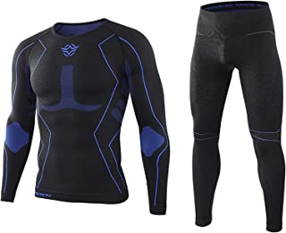 Men's Thermal Underwear Set,Winter Base Layer Long Sleeve Long Top & Bottom,Quick Dry Base Layer Sport Compression Suit fo...