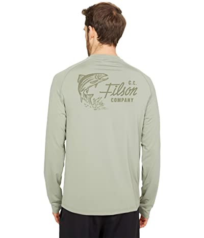 Filson Long Sleeve Barrier T-Shirt (SMU) (Desert Sage (Trout Rising)) Men