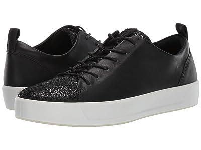 ECCO Soft 8 Sneaker (Black/Black Cow Leather) Women