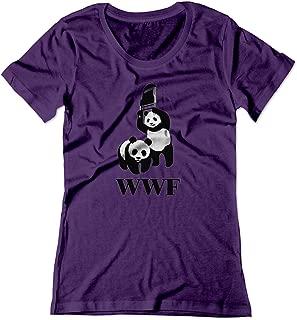 BSW Women's Women's WWF WWE Panda Wrestling Chair Parody Shirt