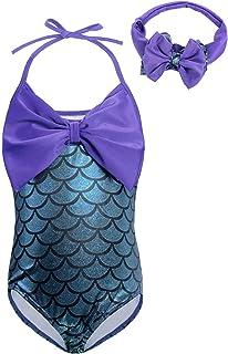851eaec4ca5a1 Cotrio Little Mermaid Swimsuit Girl Tankini Swimwear 2-Piece Bikini Set  3-Piece Bathing