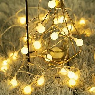 40 LED 16ft Cadena Luces, Impermeable, luz blanca cálida, Fulighture Decorativas Guirnaldas Luminosas para Exterior,Interior, Jardines, Casas, Boda, Fiesta de Navidad