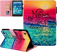 """Kindle fire 7 Case - JZCreater Slim Fit Leather Standing Protective Cover for Amazon Fire 7 Tablet (Fire 7"""" Display 5th/7t..."""