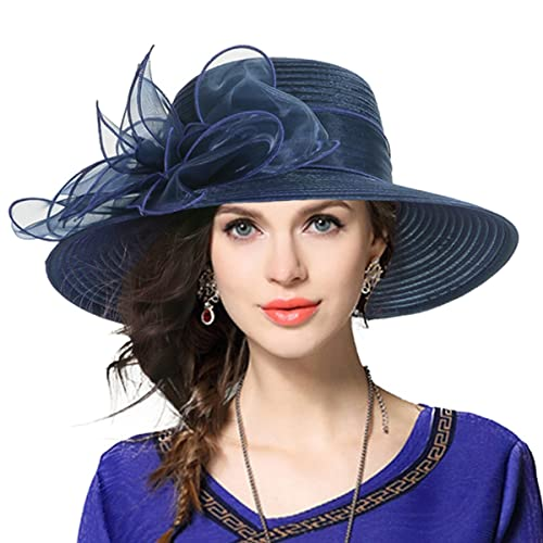 VECRY Women Oaks Derby Church Baptism Dress Tea Party Wedding Hats 3cdca5ba2ca3