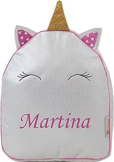 Mochila Infantil Personalizada con el Nombre Bordado (Pequeño Unicornio)