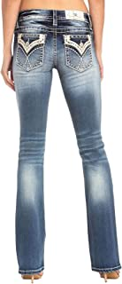 Dream Criss Cross Low Rise Boot Cut Jeans