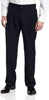 Men's Two-Tone Herringbone Expandable-Waist Pleat-Front Dress Pant