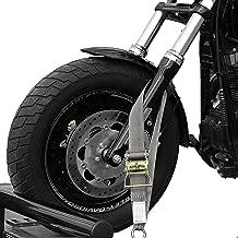Tank Straps Motorcycle Tie Down Straps (2pk) - 10.000 lb Webbing Break Strength 2'' x 10' Super Heavy Duty Endless Tie Downs with Ratchet Strap