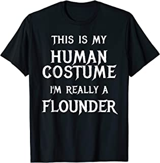 I'm Really a Flounder Shirt Easy Halloween Costume