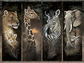 Bits and Pieces - 1000 Piece Jigsaw Puzzle - Pride of Africa, African Jungle Animals; Lions, Giraffes, Elephants and Zebras - by Artist Ruane Manning - 1000 pc Jigsaw