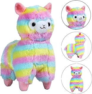 Cute Squishy EUZeo Peluche Juguete Rainbow Alpaca Squishies Kawaii Juguetes Squishy Toy Stress Relief Juguete Slow Rising Juguetes Descompresión Toys