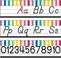 Schoolgirl Style | Just Teach D'Nealian Alphabet Line Bulletin Board Set | Printable