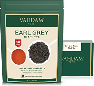 VAHDAM, Earl Grey Tea Leaves (50 Cups) CITRUSY & DELICIOUS - Brew Iced Tea or Hot Tea, Black Tea blended with 100% Natural...