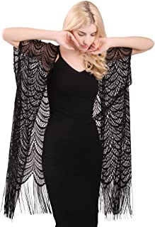 Womens Lace Crochet Cardigan Open Front Kimono Cover Ups
