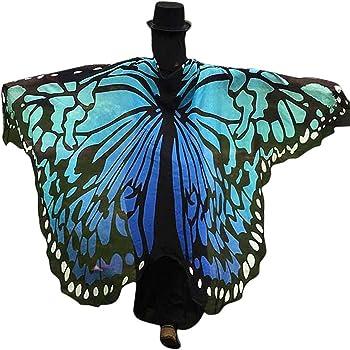 TANCUDER Chal de Mariposa para Adulto, Disfraz de Mariposa, Alas ...