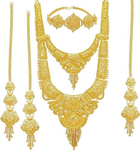 Wedding Jewellery Jewellery Set For Women Golden N83811