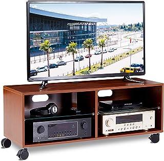 RFIVER Mueble TV con Ruedas Mesa para Televisión de Color Nogal 110x40x44 TS5002