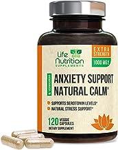 Stress Support Supplement 1000mg - Natural Herbal Formula with Ashwagandha, 5-HTP, GABA, L-Theanine, Rhodiola Rosea - Made...