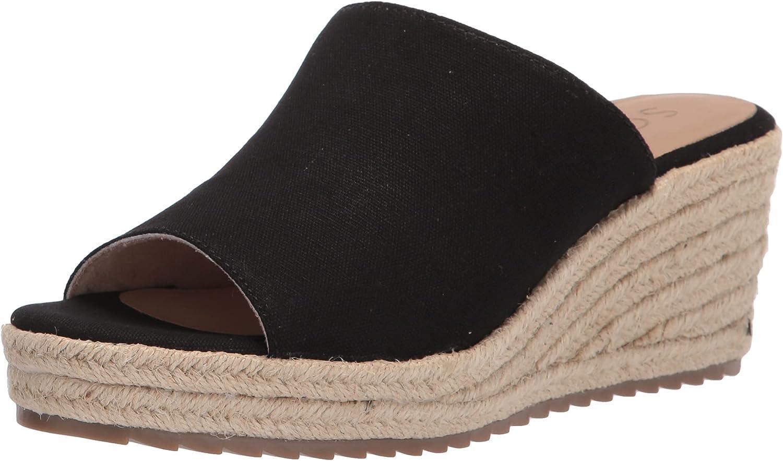 SOUL Naturalizer Women's Oodles Slide Sandal, Black, 8.5