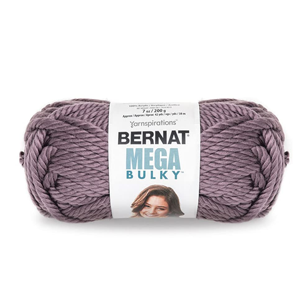 Bernat Mega Bulky Yarn 7 oz - JUMBO Gauge 100% Acrylic -  Purple  -   For Crochet, Knitting & Crafting