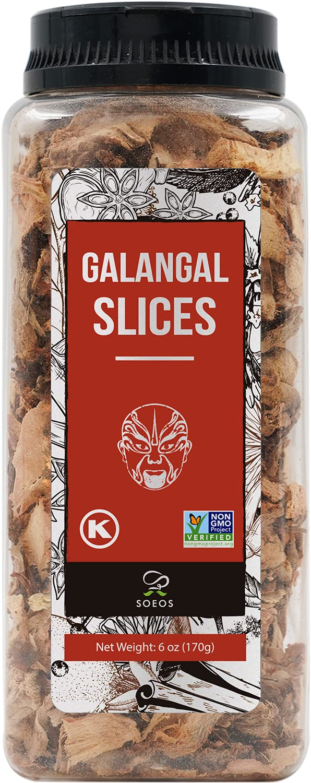 Soeos Galanga Slices 6 Ounces Non-GMO Kosher Verified Max 53% OFF Very popular Great G