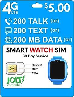 Mobile Net IoT $5 Smartwatch Plan Nationwide AT&T 4G LTE - Smart Watch SIM Card