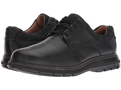 Clarks Un Ramble Lo (Black Tumbled Leather) Men