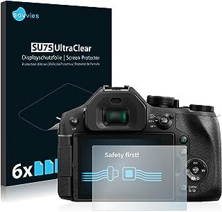 savvies Protector Pantalla Compatible con Panasonic Lumix DMC-FZ300 (6 Unidades) Pelicula Ultra Transparente