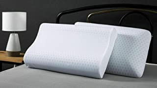 Dreamaker Bedding Luxurious Gel Infused Talalay Latex Pillow Standard High Profile and Contour Medium to Hard Firmness Coo...