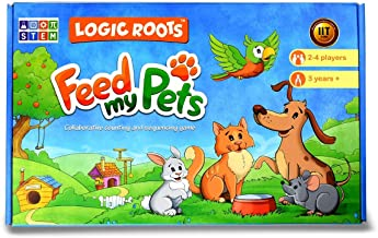 Feed MY Pet Counting Math-Games-for-Kindergarten-Kids, Toys-for-3-Year-Old-Boys-Girls, 80-Magnetic-Tiles and Magnetic-Board, Gift-for-3-year-old-Girl-Boys