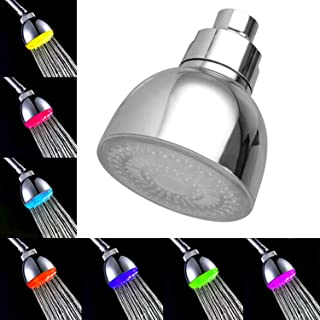 LED Shower Head, 7 Color Light Change Automatically Fixed Shower Head High Pressure Water Saving Showerhead Fits Most Standard Shower Hose